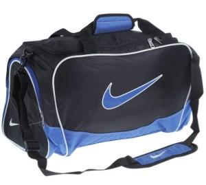 Sportovní taška Nike Brasilia černo-modrá střední