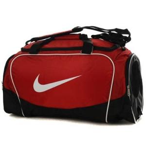 Sportovní taška Nike Brasilia červená střední